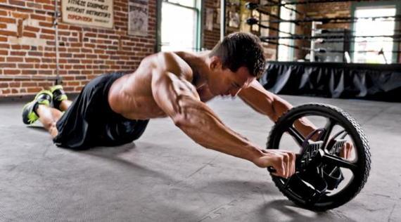 rueda ejercicios abdominales